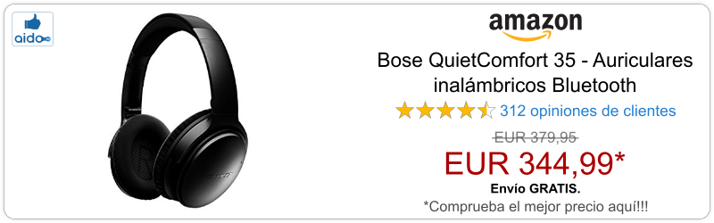 Auriculares Bluetooth Bose QuietComfort 35