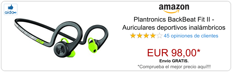 Auriculares Bluetooth Plantronics BackBeat Fit II