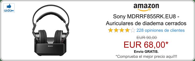 Auriculares Bluetooth Sony MDRRF855RK.EU8
