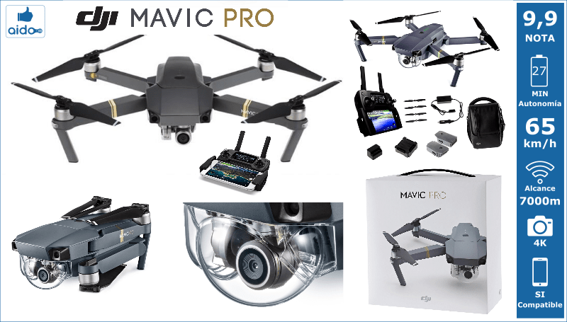 Caracteristicas Drone DIJ MAVIC PRO