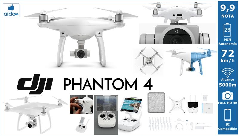 Caracteristias Drone DJI PHANTON 4