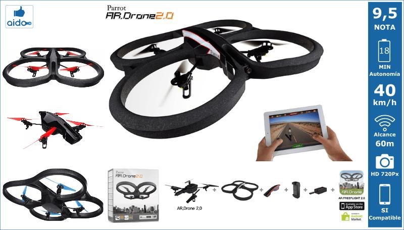 Caracteristicas Drone Parrot AR Drone 2.0