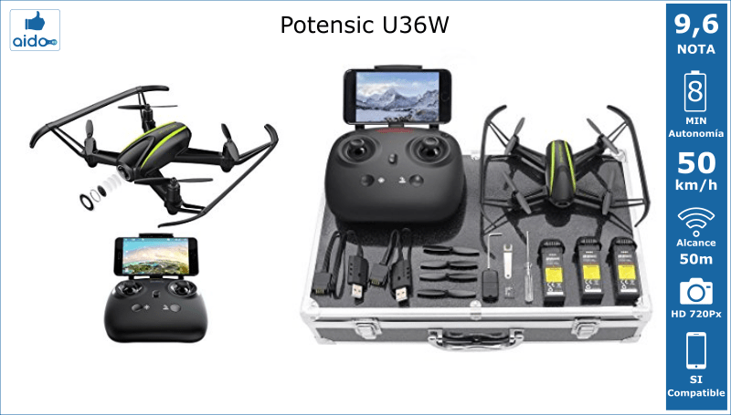 Caracteristicas Drone Potensic U36W