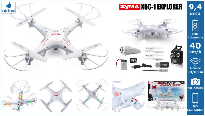 Caracteristicas Drone Syma X5C-1