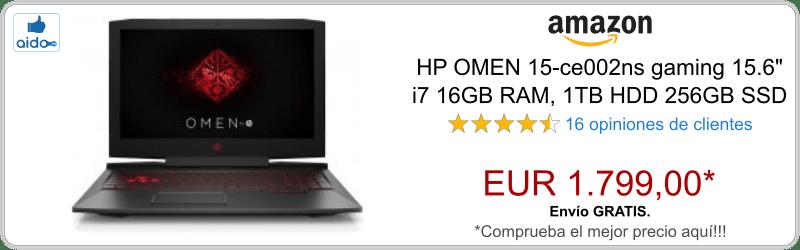 HP OMEN 15-ce002ns