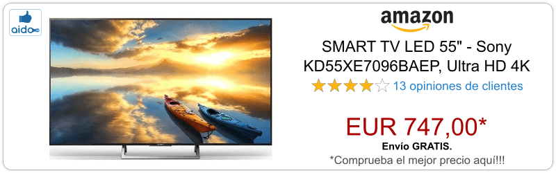 Smart TV SONY KD55XE7096BAEP