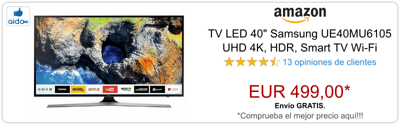 Smart TV Samsung UE40MU6105