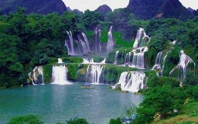 Cascadas de Ban Gioc en Vietnam del Norte