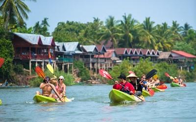 Kayak en Laos