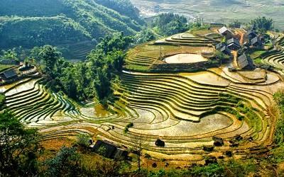 Las montañas de Sa Pa Vietnam