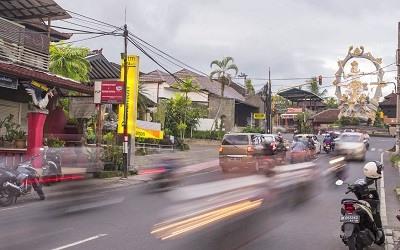 Trafico en Bali