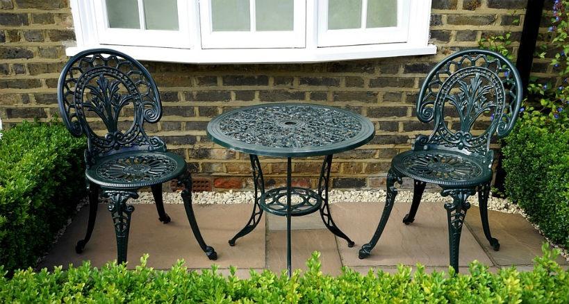 muebles de jardin de hierro fundido