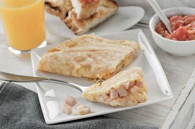 Receta de tortilla con pechuga de pavo