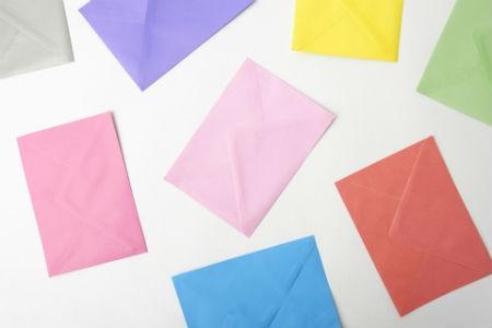 Diferentes formatos de sobres